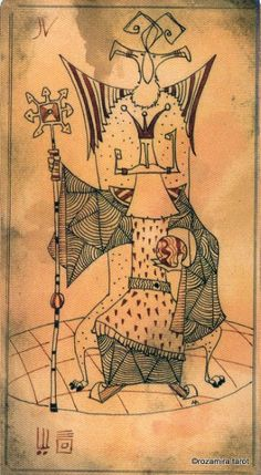 IV. The Emperor - Lost Code Of Tarot by Andrea Aste