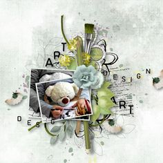 digital scrapbooking Piece of Art (flowered elements) by Simplette is a part of a collection about colors and art All Paper, Elements Of Art, Jaba, Digital Scrapbooking, Overlays, Art Pieces, Creative, Artist, Layouts