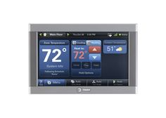 Product by Trane - Sponsor of @Green Builder VISION House® - Trane ComfortLink II Control: Now you can do some high-tech weather control inside your house, any time, from anywhere in the world. When you're away from home, it's the perfect energy tracker you can adjust remotely to increase efficiency. When you're home, it's your comfort specialist, telling you how to dress for the day's forecasted weather.