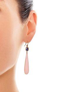 Irene Neuwirth diamante, safira, opala e rosa brincos de ouro