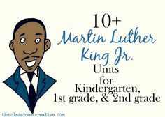 Martin Luther King Jr. unit for kindergarten, first grade, and second grade, thematic units for martin luther king