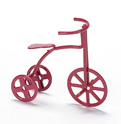 Red Tricycle   Mary's Dollhouse Miniatures