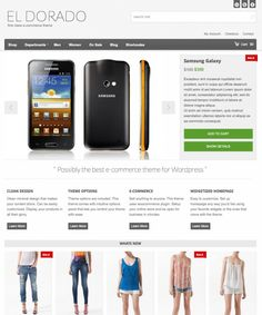El Dorado is a minimal and flexible WordPress eCommerce Theme.  El Dorado's e-commerce is powered by WooCommerce plugin which lets you Sell anything to Anyone. Be it a tangible product or a digital download.    Widgetized Homepage is an easy and fun way to change the appearance of your theme. Just drag and drop your favorite widgets and get new look every time. $49