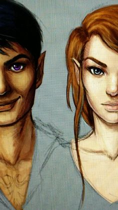 Started coloring those sketches digitally. So here's a sneak peek of my 19488382nd drawing of Feyre and Rhys lmao. I'm gonna wait until I finish the rest of them before I post the entire thing! Just...