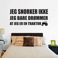 Jeg snorker ikke wallsticker Bed, Furniture, Instagram, Home Decor, Decoration Home, Stream Bed, Room Decor, Home Furnishings, Beds