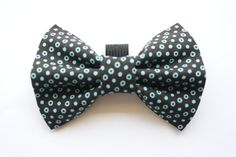Black and Blue Polka Dot Bow Tie for Pets, Cat Bow Tie, Cat accessory, Pet accessory by WhiskersCrafts on Etsy