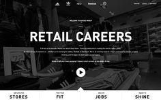 adidas Retail Careers 24 July 2013 http://www.awwwards.com/web-design-awards/adidas-retail-careers #webdesign #inspiration #UI #BigBackgroundImages #CSS3 #HTML5 #Design #Black #White