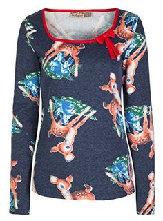 Lindy Bop 'Fern' Gorgeous Deer Print Vintage 50's Rockabilly Pin Up Top (S, Navy) Lindy Bop http://www.amazon.com/dp/B00UZ8KXCC/ref=cm_sw_r_pi_dp_XzUpvb17D9F26