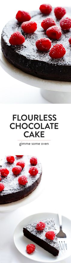 All you need are 3 easy ingredients to make this decadent flourless chocolate cake! | gimmesomeoven.com (Gluten-Free)