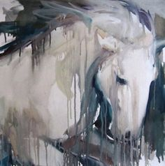 Buy Galloping horse - oil on canvas, a Oil on Canvas by Sylvia Baldeva from France. It portrays: Animal, relevant to: white, galloping horse, mouvement, animal, horse 50 x 50 cm oil on canvas