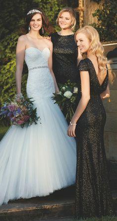 Golden+Black Bridesmaid Dress