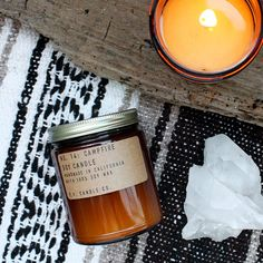 No. 14: CAMPFIRE - 7.2 oz soy wax candle - captures firewood & camping memories - P.F. Candle Co.