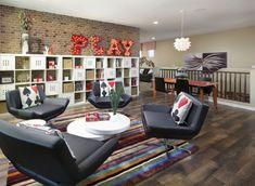 Playful teenage loft/hangout