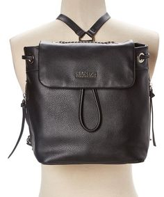 fd8e9d5ace5e7d Another great find on #zulily! Black Kayla Backpack #zulilyfinds Faux Leather  Backpack