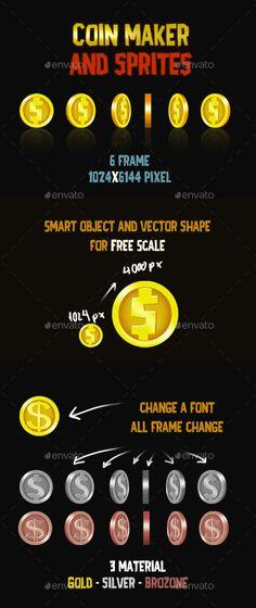 Coin Maker and Sprites - Sprites Game Assets