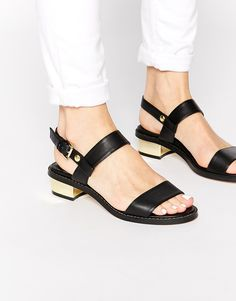 ASOS FANCIFY Two Strap Sandals
