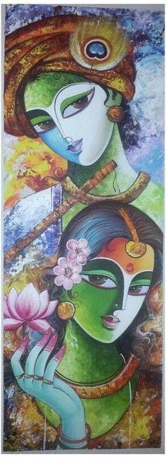 Kerala Mural Painting, Buddha Painting, Indian Art Paintings, Buddha Art, Madhubani Art, Madhubani Painting, Krishna Art, Radha Krishna Paintings, Radha Krishna Sketch