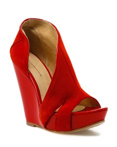 Costume National Red Wedges
