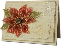 VIDEO: Joyful Christmas Poinsettia WOW | Stampin Up Demonstrator - Tami White - Stamp With Tami Stampin Up blog