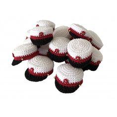 Studenterhuer - Gratis hækleopskrift Mobiles, Chrochet, Minion, Diy And Crafts, Baby Shoes, Bee, Embroidery, Knitting, Design