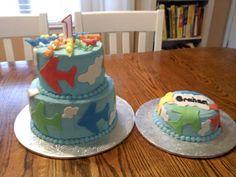 Charity's Sunshine Sweets:  AIRPLANE 1ST BIRTHDAY CAKE