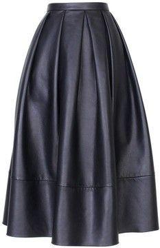 Tibi Leather Full Skirt - I want them all!