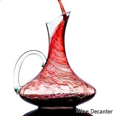 Wine Decanter - Wine Decanter, Crystal Glass Wine Carafe with Handle, 100% Hand Blown Lead-free, Wine Gift, Wine Accessories