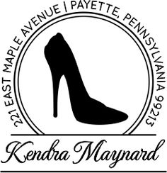 High Heel Calligraphy Script Return Address Stamp ~ Make our lives a million times easier when addressing 200+ invites