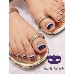 Pedicure Essentials and Designs Pretty Toe Nails, Cute Toe Nails, My Nails, Toe Nail Color, Toe Nail Art, Nail Colors, Fabulous Nails, Gorgeous Nails, Blue Nails