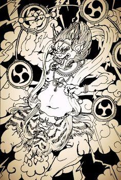 Raijin, thunder demon