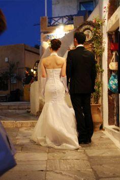 Wedding night in Oia, Santorini