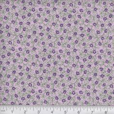 Purple Calico Fabric 100% Cotton Fabric by the Yard Vintage   Etsy