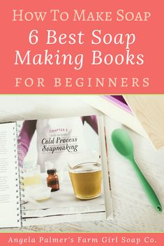 Ready to learn how to make soap the right way? These 6 best soap making books for beginners will get you started. Packed with awesome recipes, tutorials, and gorgeous photos, these books will take you from newbie to making beautiful handmade soap . Come see the favorites on my bookshelf! Pin to save, then click over to my farm blog for the 6 best books on soap making for beginners. Handmade Soap Recipes, Soap Making Recipes, Homemade Skin Care, Diy Skin Care, Lotion Recipe, Diy Lip Balm, Best Soap, Goat Milk Soap, Cold Process Soap