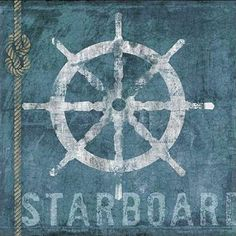Conrad-Knutsen-Starboard-Keilrahmen-Bild-Leinwand-Hafen-maritim-Urlaub-Schiffe