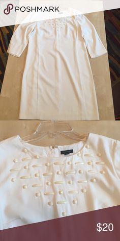 Cream Ann Taylor dress Cream Ann Taylor dress size 10. Brand new Ann Taylor Dresses Midi