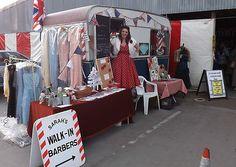 1950s style Vintage Caravan Retro Mobile Salon Barbershop Hairdressers Business   eBay