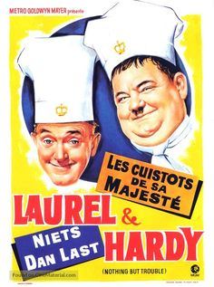 Nothing But Trouble Laurel and Hardy movie poster Great Comedies, Classic Comedies, Classic Films, Funny Comedy, Comedy Movies, Film Movie, Stan Laurel Oliver Hardy, Laurel Und Hardy, Metro Goldwyn Mayer