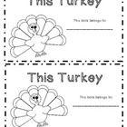 Turkey Emergent Reader