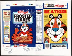 Kellogg's - Frosted Flakes - Be a Tiger Mask - cereal box printer proof - 1988
