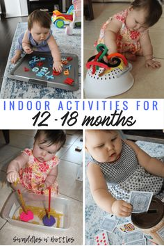 Toddler Tested & Approved Activities- Indoor busy activities for month old.Toddler Tested & Approved Activities- Indoor busy activities for month old babies. Great Activities for Fine Motor Skills 20 Creative Play Activ. 18 Month Activities, Activities For One Year Olds, Indoor Activities For Toddlers, Motor Skills Activities, Toddler Learning Activities, Infant Activities, Educational Activities, Preschool Activities, 1year Old Activities