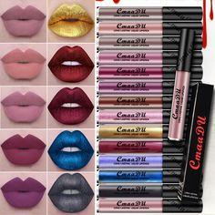 16 couleurs mat rouge à lèvres Longue durée Brillant À Lèvres Imperméable/Résistant à L'eau liquide rouge à lèvres