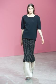 A look from the Theyskens' Theory Spring 2014 RTW collection.