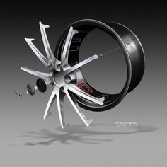 Audi TT ultra quattro concept - Wheel exploded design sketch link: