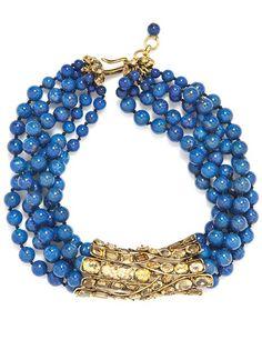Iradj Moini lapis lazuli and citrine necklace. Leslie Hindman Auctioneers, Chicago, April 21; estimate $600 to $800. lesliehindman.com