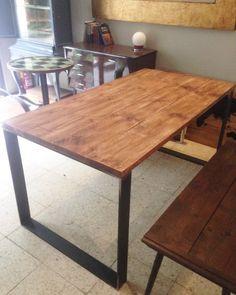 mesa industrial patas hierro