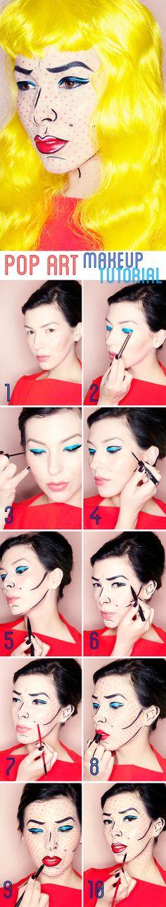 Makeup Monday: Pop Art / Lichtenstein Inspired Halloween Makeup Tutorial