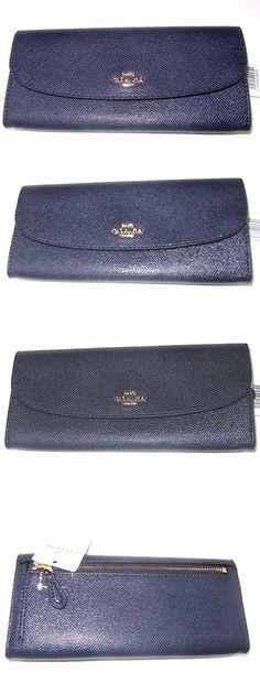 Coach New Crossgrain Leather Soft Slim Wallet F54008  BlackNEW BOX $150