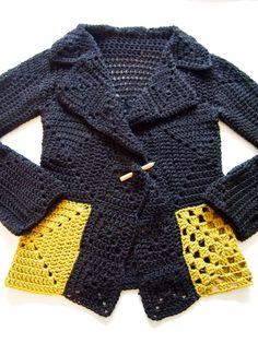 Crochet Hooded Baby Cardigan Making - Crochet hooded baby cardigan making Best Picture For DIY decorating dollar store For Your Taste Y - Crochet Jumper, Crochet Coat, Crochet Jacket, Crochet Clothes, Freeform Crochet, Crochet Granny, Crochet Stitches, Crochet Patterns, Crochet Squares