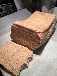 Recipe from THM Nuke Queen Awesome Bread with a few tweaks. I added 1 T cinnamon, 1/2 teaspoon Apple pie spice 1/2 cup gentle sweet, 2 doonks Stevia. Tsp Caramel extract, tsp vanilla. Cut back water to 5 Tablespoons. That's it!
