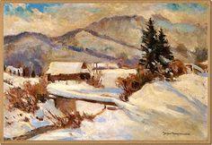 Malarstwo - moja pasja: Zima w polskim malarstwie - część III